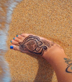 Jagua gel painted on